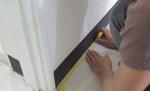 步驟05:  貼膠布準備收邊