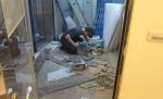 步驟01裁切木地板準備舖設