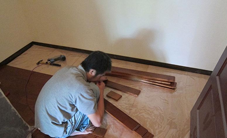 步驟08舖設實木地板3